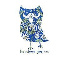Be Who You Are Owl  Photographic Print