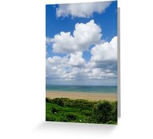 Colleville-sur-Mer view Greeting Card