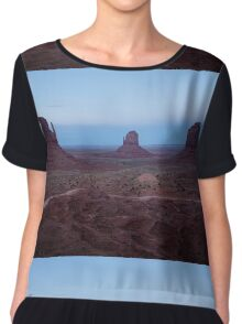 Twilight At Monument Valley Chiffon Top