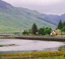 Cove near Invershiel, Scotland Sticker