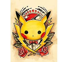 Pikachu Flash  Photographic Print