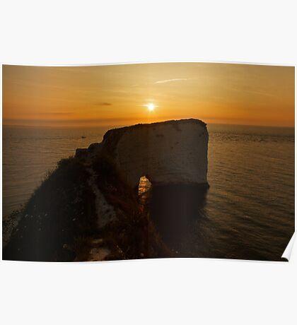 Sunrise Old Harry Rocks Poster