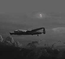 RAF Lancaster - Night Combat by Pat Speirs