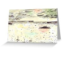 Rainy Day on the Harbour Greeting Card