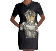 Fox Warrior Graphic T-Shirt Dress