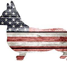 Patriotic Corgi by NestToNest