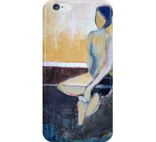 Blue-Haired Girl iPhone Case/Skin