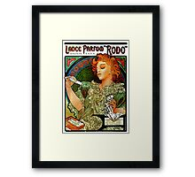 'Lance Parfum' by Alphonse Mucha (Reproduction) Framed Print