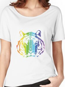 Tiger Color Stripes 2 Women's Relaxed Fit T-Shirt