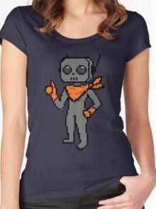 roe pixel art Women's Fitted Scoop T-Shirt