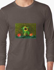 Piet's Sunflower in a Vase Long Sleeve T-Shirt
