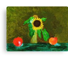 Piet's Sunflower in a Vase Canvas Print