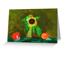 Piet's Sunflower in a Vase Greeting Card