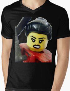 Samurai Mens V-Neck T-Shirt