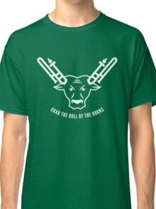 Grab The Bull By The Horns (White) Classic T-Shirt