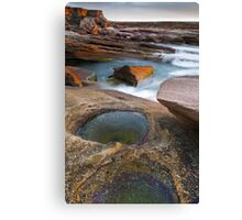 Last Rays and Rock Pools Canvas Print