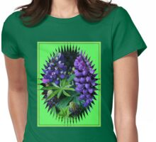 Lupins in Mirror Frame Womens Fitted T-Shirt