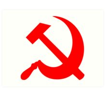 Hammer and Sickle - Communist Symbol  Art Print