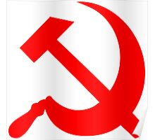 Hammer and Sickle - Communist Symbol  Poster
