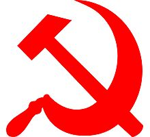 Hammer and Sickle - Communist Symbol  Photographic Print