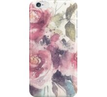 Dreamy pink roses, watercolor painting iPhone Case/Skin