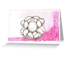 WEEPING BUDDHA PINK Greeting Card