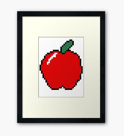 MINECRAFT APPLE Framed Print