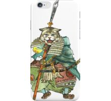 A Halfing Samurai Cat with a Spear and 2 Swords iPhone Case/Skin