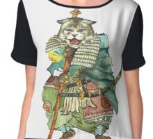 A Halfing Samurai Cat with a Spear and 2 Swords Chiffon Top