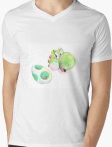 Yoshi and Egg Mens V-Neck T-Shirt
