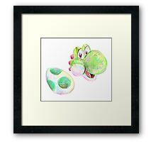 Yoshi and Egg Framed Print