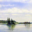 Two Island lake by loralea