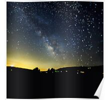 Milky Way over Ventura County, CA, USA Poster