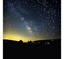 Milky Way over Ventura County, CA, USA Photographic Print