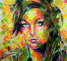 ABSTRACT AMY WINEHOUSE by artxr