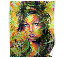 ABSTRACT AMY WINEHOUSE Poster