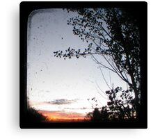 New England Sunset Through The Viewfinder (TTV) Canvas Print