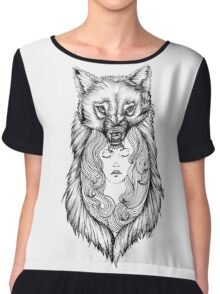 Wolves Will Keep You Warm Chiffon Top