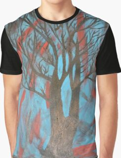 Blue Tree Graphic T-Shirt