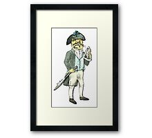 Captain Cat with a Sextant Framed Print