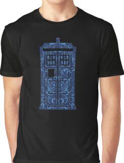 Blue Filigree TARDIS Graphic T-Shirt