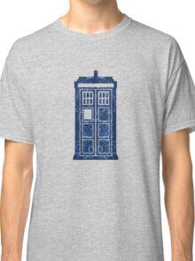 Blue Filigree TARDIS Classic T-Shirt