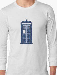 Blue Filigree TARDIS Long Sleeve T-Shirt
