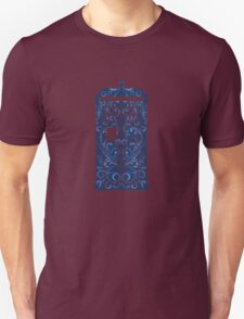 Blue Filigree TARDIS Unisex T-Shirt