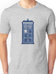 Blue Filigree TARDIS Unisex T-Shirt