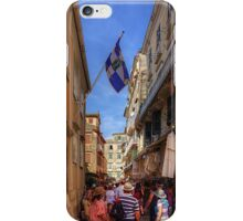 Shopping in Corfu Town iPhone Case/Skin