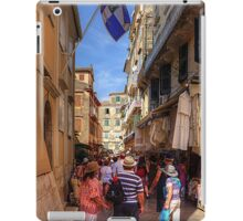 Shopping in Corfu Town iPad Case/Skin