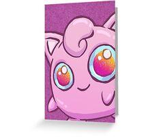 Magic Eyes Jigglypuff (Pokemon) Greeting Card