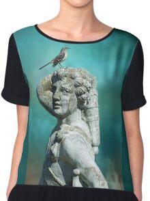 Grecian Mockingbird  Chiffon Top