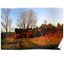 Sundown at the Old Farmstead Poster